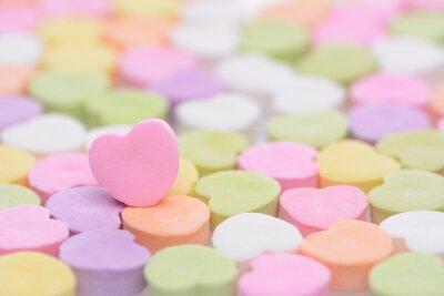 Naklejka Różowy Cndy Serce