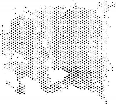 Naklejka Rozpraszania ulegające zwyrodnieniu półtonów wzór tekstury. Wektor tekstury grunge nakładki.