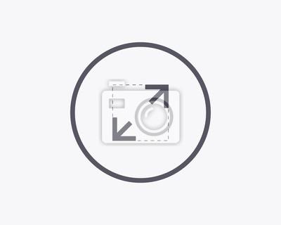 Rozwiń Icon - Minimal cienka konstrukcja linii. ilustracji wektorowych