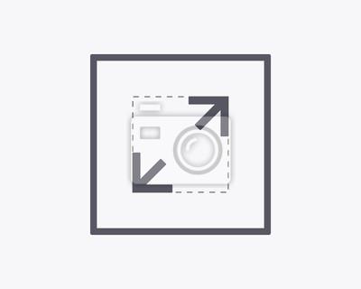 Rozwiń ikonę - wektor ilustracji. Minimalna cienka konstrukcja linii.