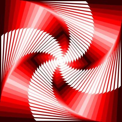 Naklejka Ruch wirowy projekt kolorowe geometryczne tyłu iluzja czworokąt