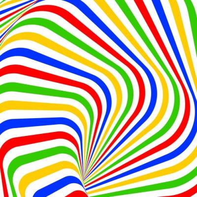 Naklejka Ruch wirowy projekt kolorowe tła iluzja