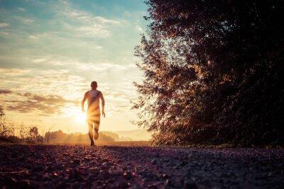 Naklejka Running in the country