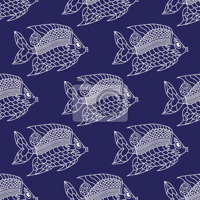 Ryby Grawerowane szwu.