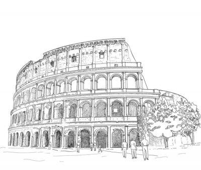 Naklejka Rysunek Koloseum