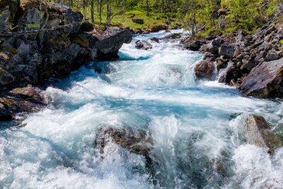 Naklejka Rzeka w Norwegii