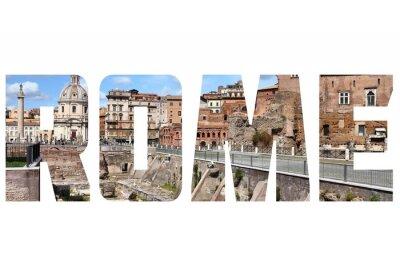 Naklejka Rzym znak