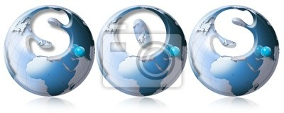 S.O.S. world globe