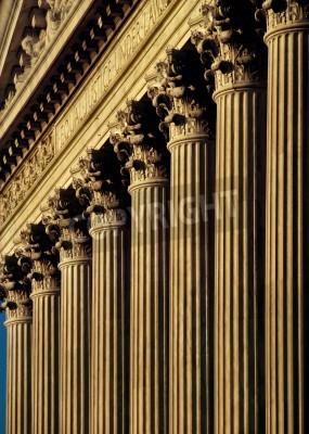 Naklejka Sąd Najwyższy Stanów Zjednoczonych elewacji budynku i kolumny