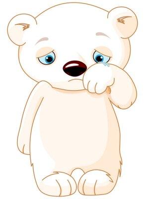 Naklejka Sad Polar Bear