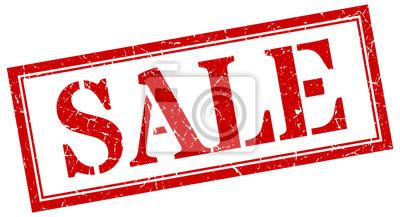 Naklejka sale stamp. sale square grunge sign. sale