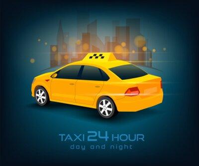 Naklejka samochód taxi