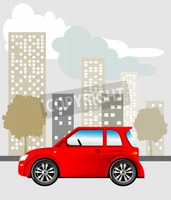 Naklejka Samochodów w mieście