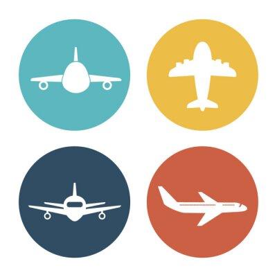 Naklejka Samolot i podróże