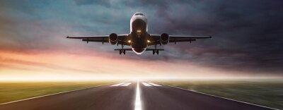 Naklejka Samolot w locie