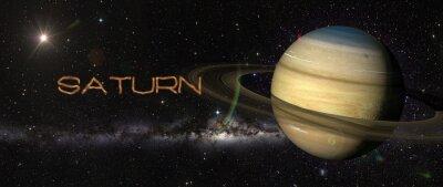 Naklejka Saturn Planet w przestrzeni kosmicznej.
