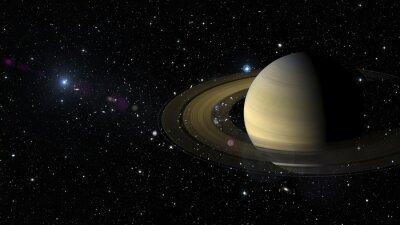 Naklejka Saturn Planet w przestrzeni kosmicznej. Elementy tego zdjęcia dostarczone przez NASA
