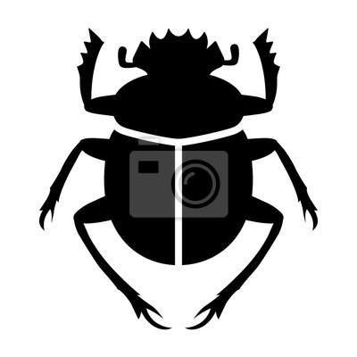Naklejka Scarabaeus sacer / sacred scarab dung beetle flat vector for apps and websites