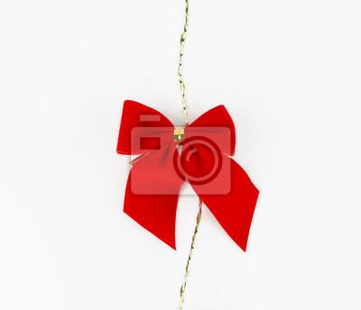 Scarlet wstążka / dekoracji Chrictmas