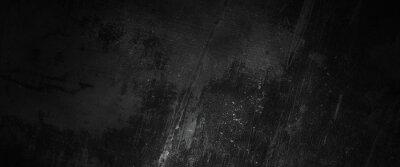 Naklejka Scary dark walls, slightly light black concrete cement texture for background
