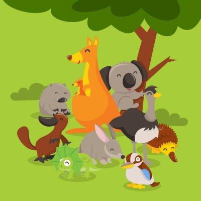 Naklejka Scena australijskie zwierzęta