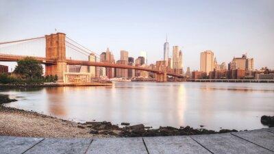 Naklejka Scenic słońca w Nowym Jorku od brzegu