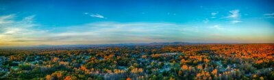 Naklejka Scenic View Of Landscape Against Blue Sky