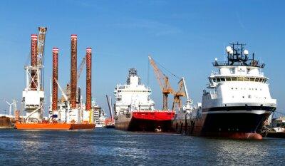 Naklejka Schiffe im Hafen