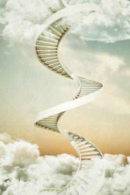 Naklejka schody spiralne