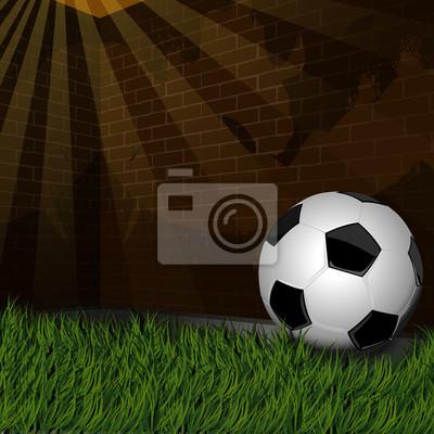 ściana soccer trawy