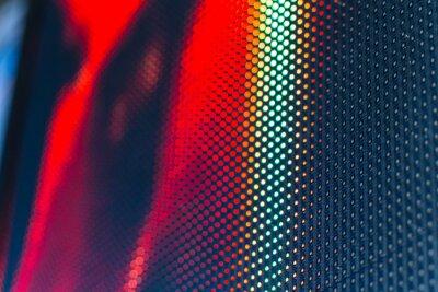 Naklejka Ściana wideo LED o wysokiej nasyconych wzór