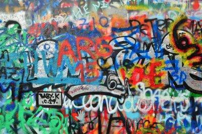 Naklejka ściany z graffiti rozpylany
