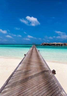 Naklejka Ścieżka do laguny na Malediwach
