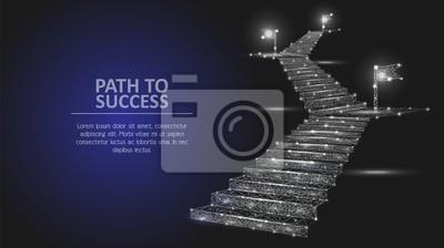 Naklejka Ścieżka do sukcesu wektor geometryczne tło wielokąta