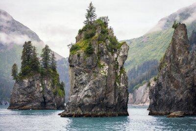 Naklejka Sea Stacks, Park Narodowy Fiordów Kenai, Alaska