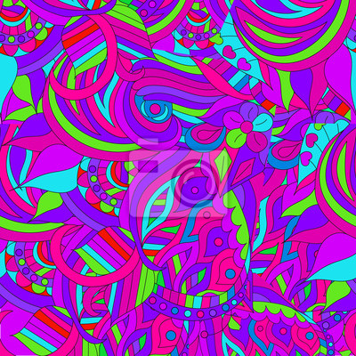 Seamless abstract hand-drawn wavy pattern, background.