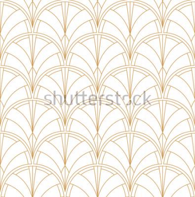Naklejka Seamless Art Deco Pattern. Vintage minimalistyczne tło. Abstrakcjonistyczna Luksusowa ilustracja.