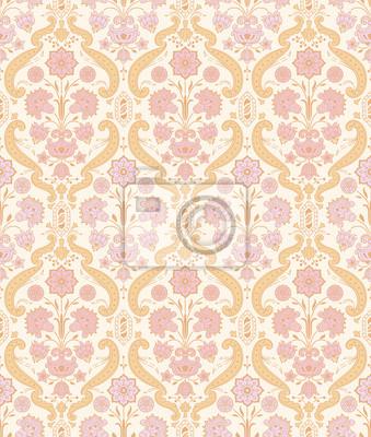 Seamless ozdobnych rocznika wzór z stylizowane kwiaty.