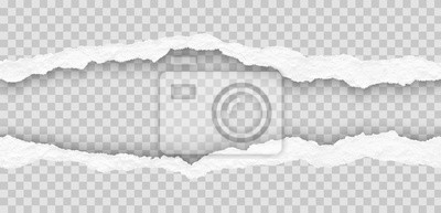Naklejka seamless torn paper edges, vector illustration