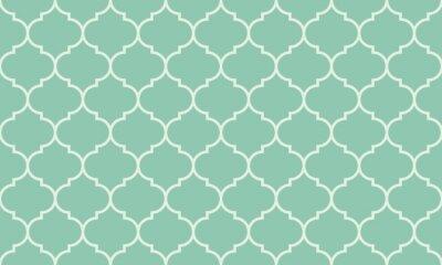 Naklejka Seamless turquoise wide moroccan pattern vector