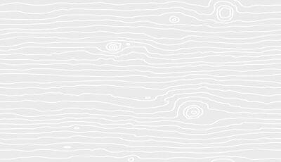 Naklejka Seamless wooden pattern. Wood grain texture. Dense lines. White background. Vector illustration