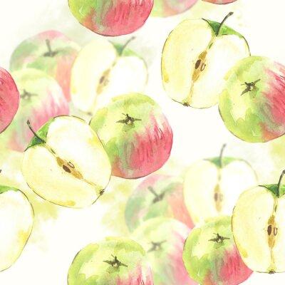 SeamSeamless Akwarele tła z jabłek