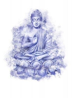 Naklejka Seated Buddha in a Lotus Pose