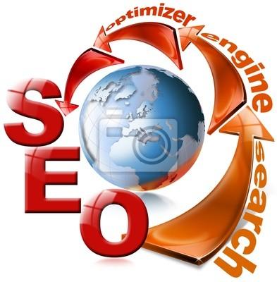 SEO czerwona strzałka - Search engine optimization web