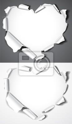 Serca z papieru. Ilustracja wektorowa