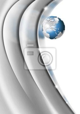 Serce Globe Metal Business tła