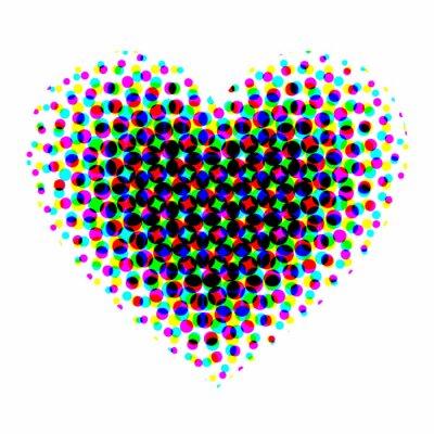 Naklejka Serce półtonów