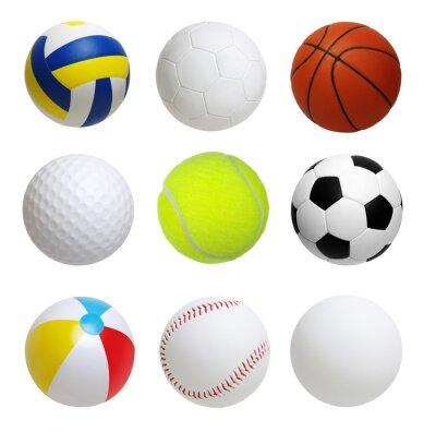 Set of balls isolated on white