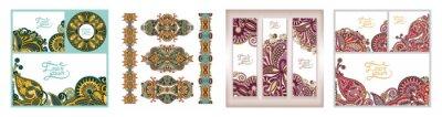 set of decorative flower template banner, card