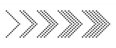 Naklejka Set of dotted arrows - vector.